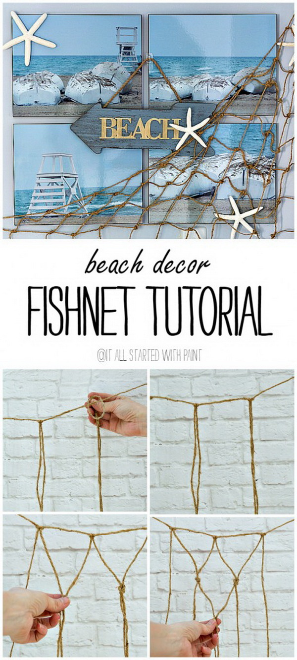 Fishnet Beach Wall Decor.