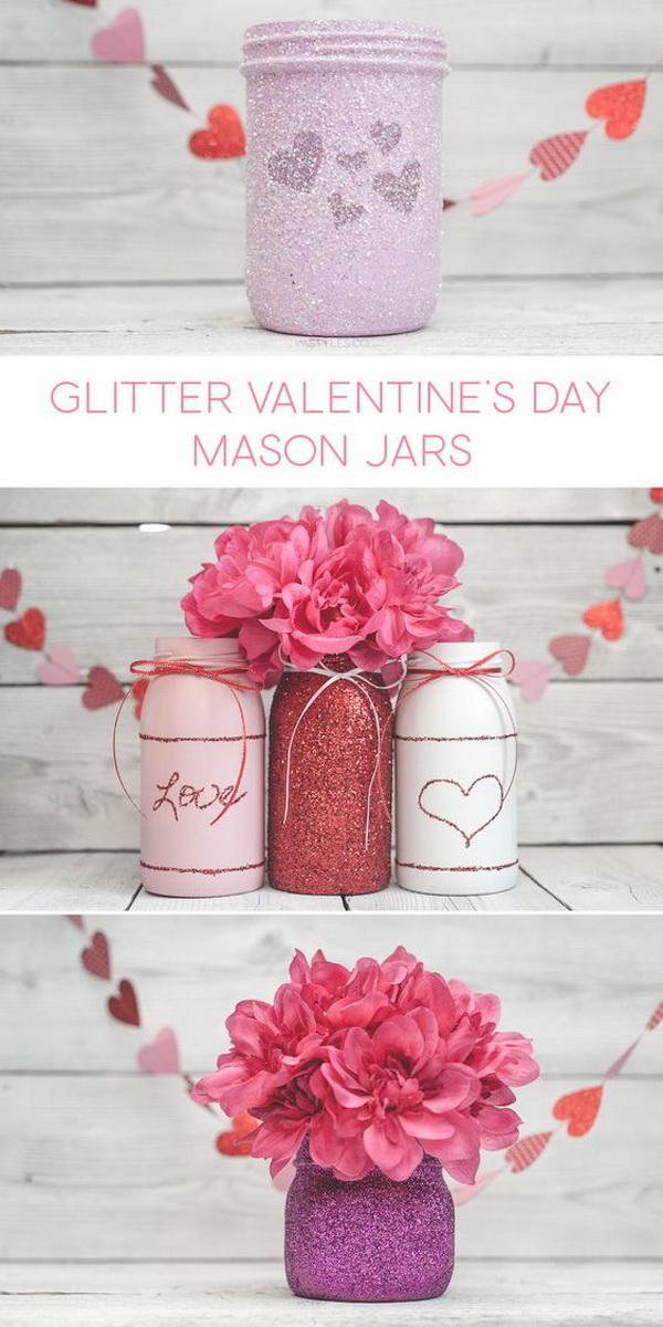 Valentine's Day Gift Jars.