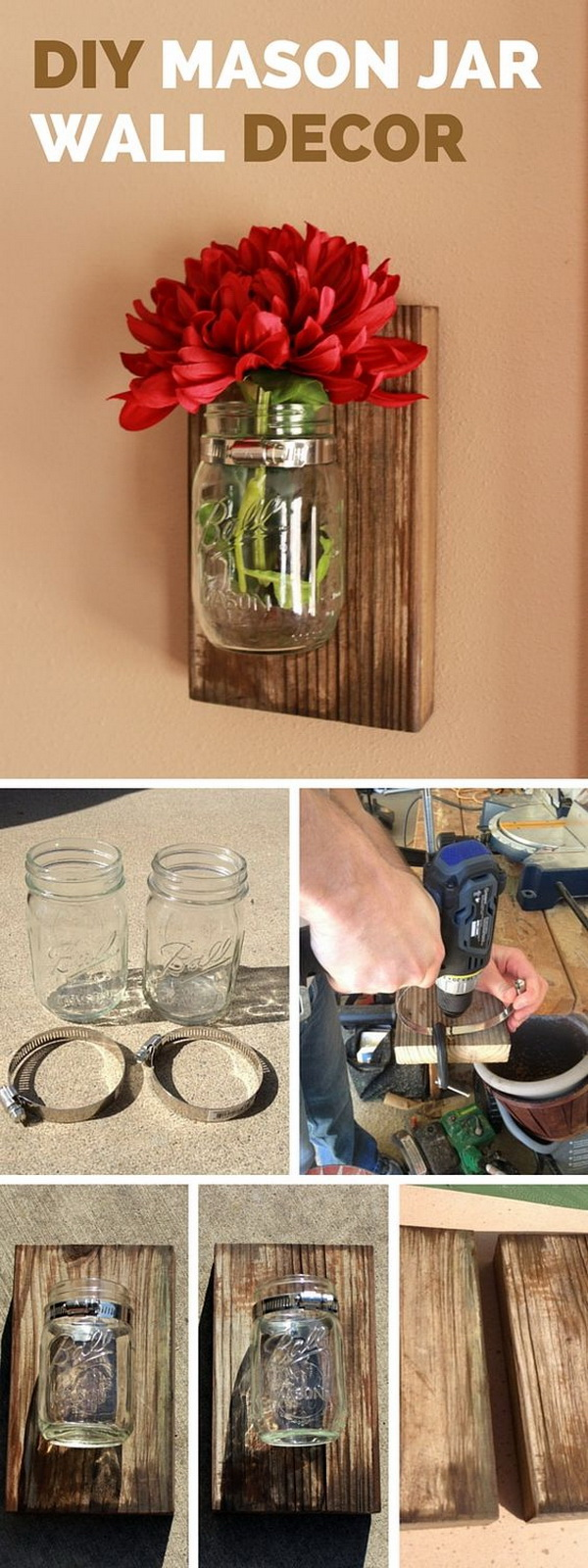 DIY Mason Jar Wall Decor.