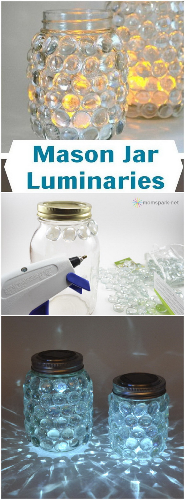 Easy Mason Jar Luminaries.