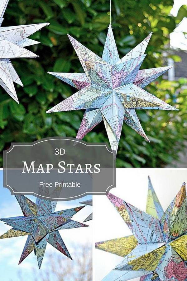3D Map Star Christmas Decoration.