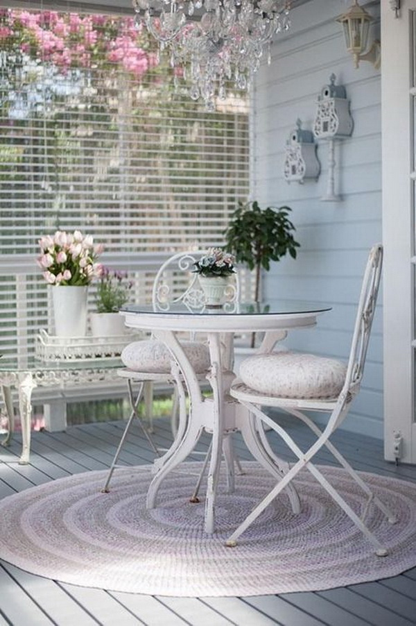 Beautiful Shabby Chic Balcony. Refresh Your Garden Or Balcony In The Spring  With The Warm