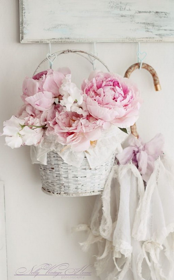 Vintage chic hanging basket.