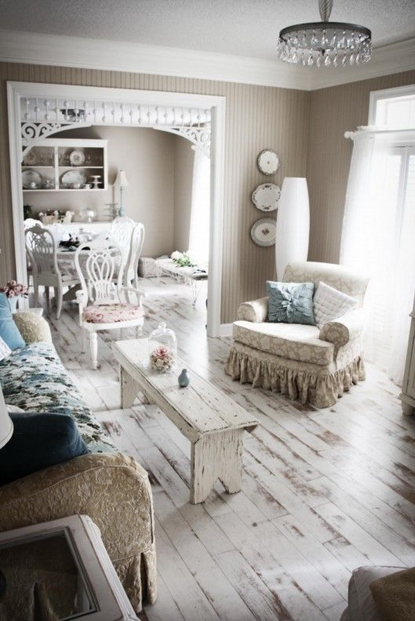 Vintage chic living room ideas.