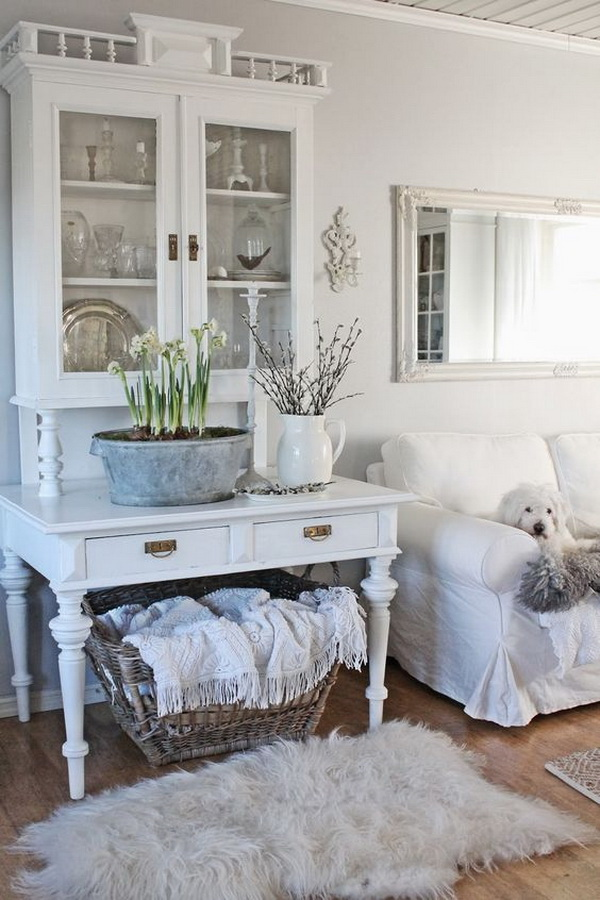 White shabby chic love.