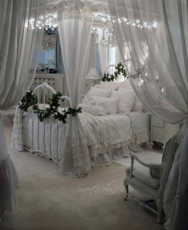 White Shabby Chic Bedroom Ideas: Pretty Shabby Chic Decoration Inspirations