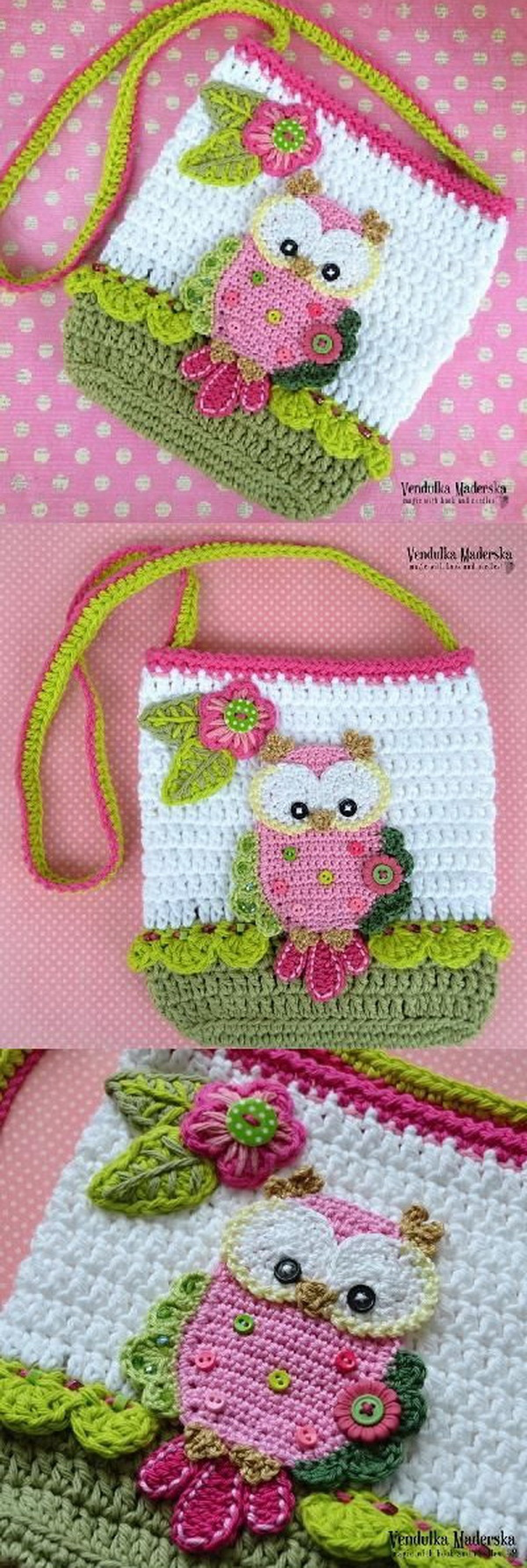 Crochet Owl Purse. Your little girls will look so lovely when wearing this crochet owl purse bag!