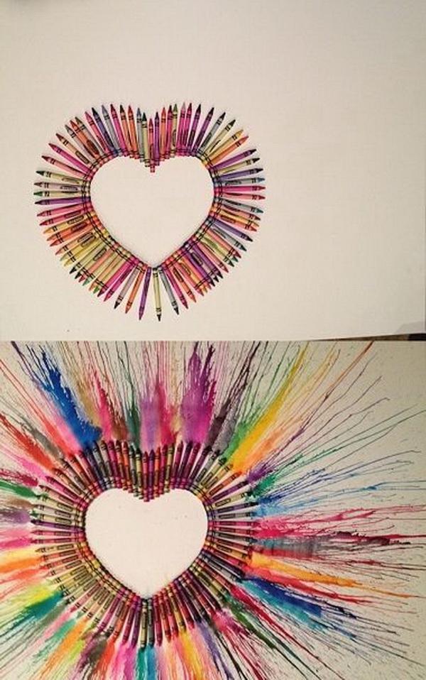 Fantastic Melted Crayon Art Ideas.