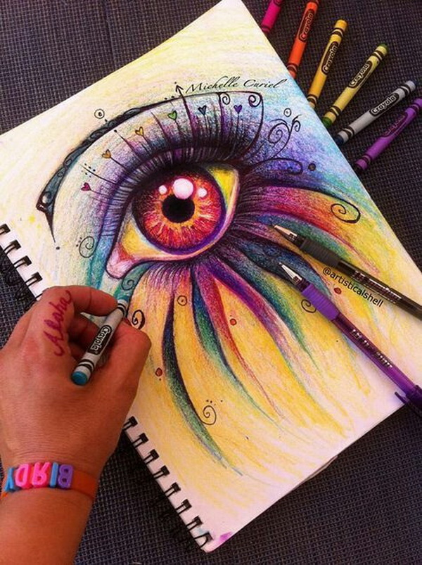 Eye Believe. Fantastic Melted Crayon Art Ideas.