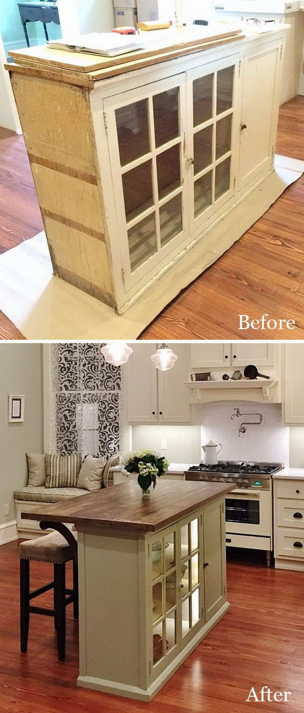 Hutch Top Repurposed Tv Stand