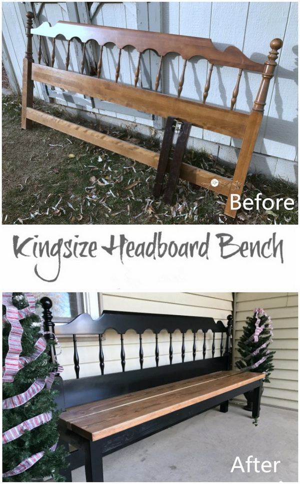 DIY Furniture Makeovers: Kingsize Headboard Bench.