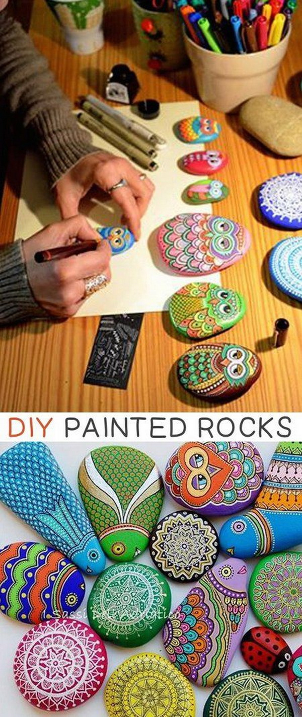 Easy Kids Craft Ideas DIY Painted Stones And Rocks