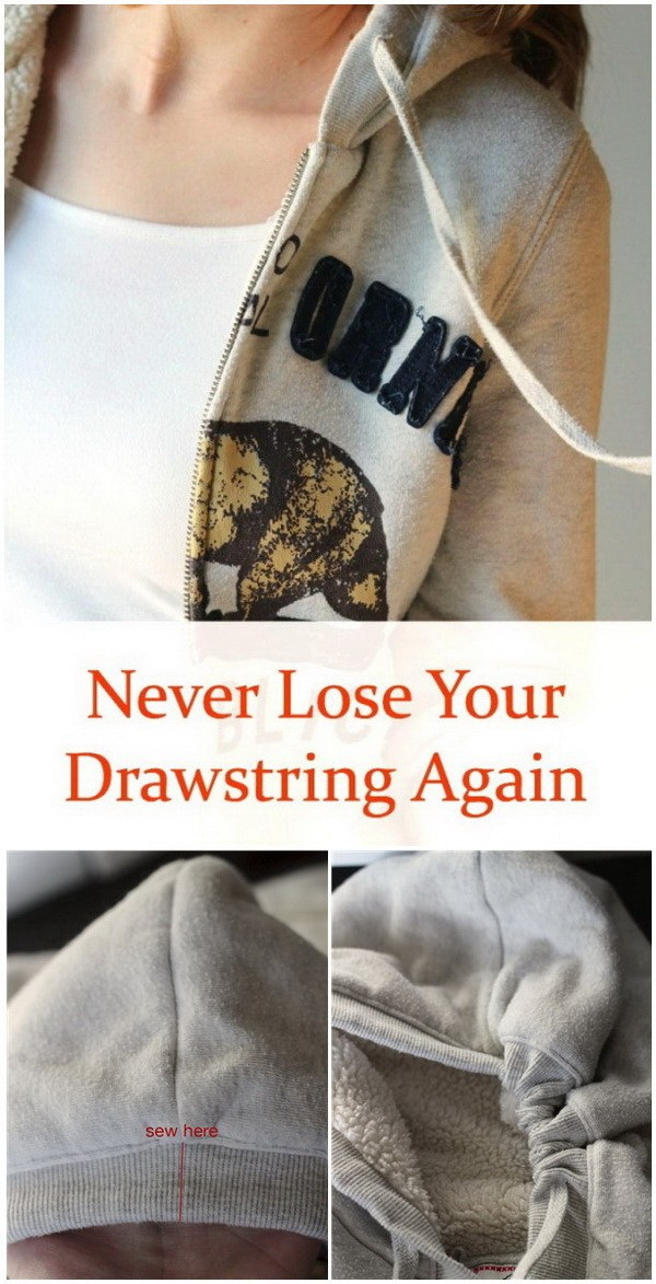 Sewing Hacks: Never Lose Your Drawstrings Again with This Sewing Trick.