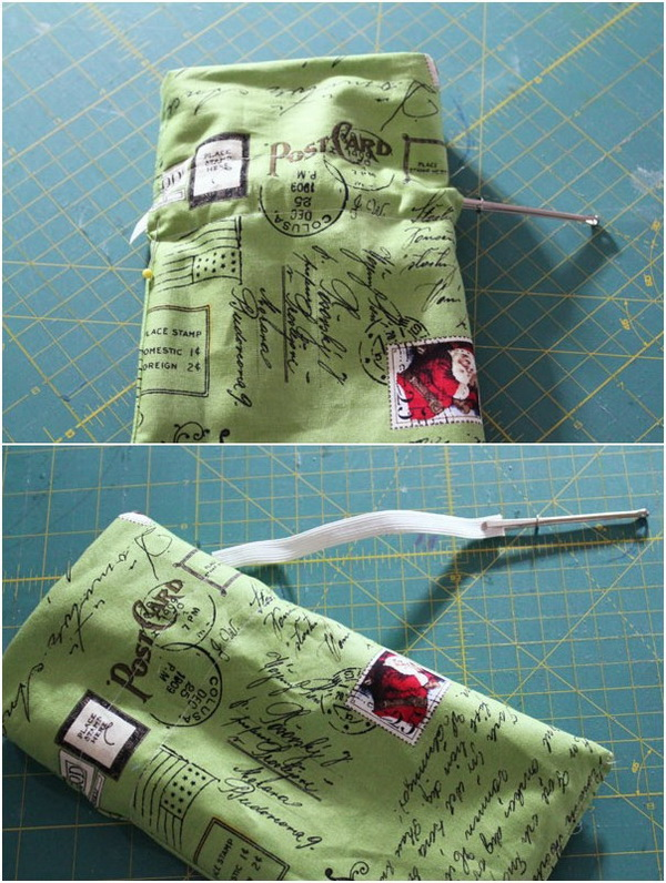 Sewing Hacks: Use A Bodkin To Easily Insert Elastic Into A Casing.