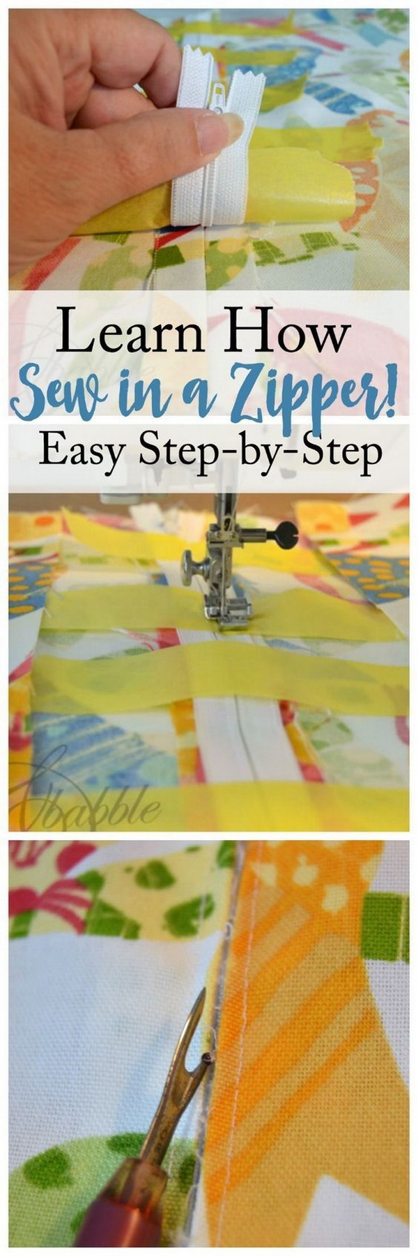 Best Sewing Tips & Tricks: How To Sew In A Zipper.