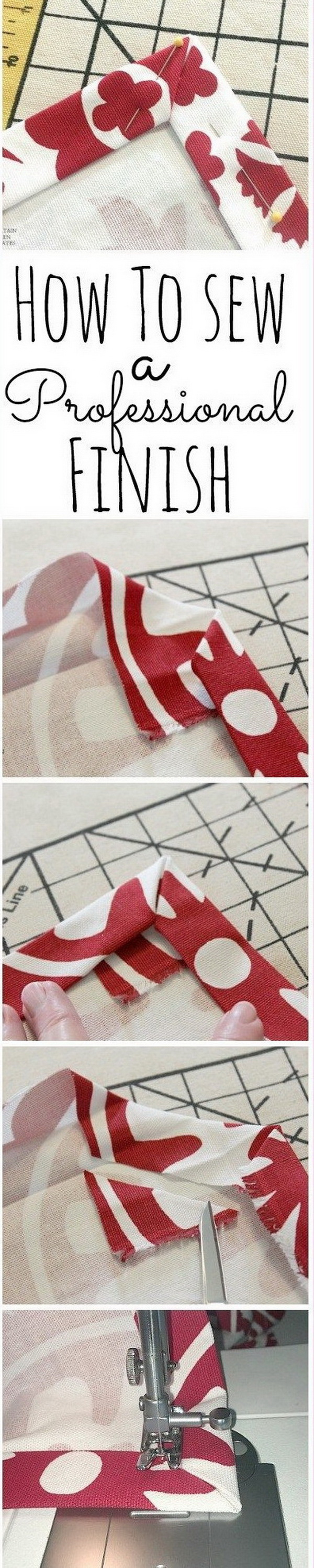 Best Sewing Tips & Tricks: How to Sew a Perfect Corner.