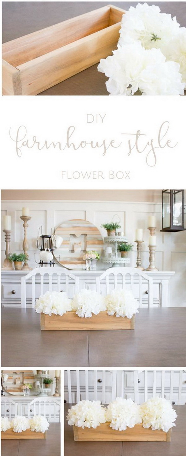 Easiest Ever DIY Flower Box.