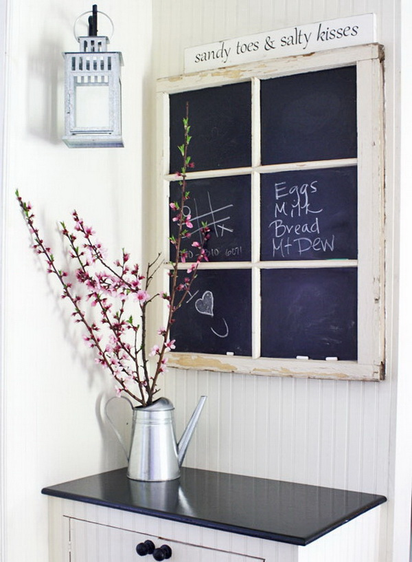 DIY Rustic Chalkboard Window.