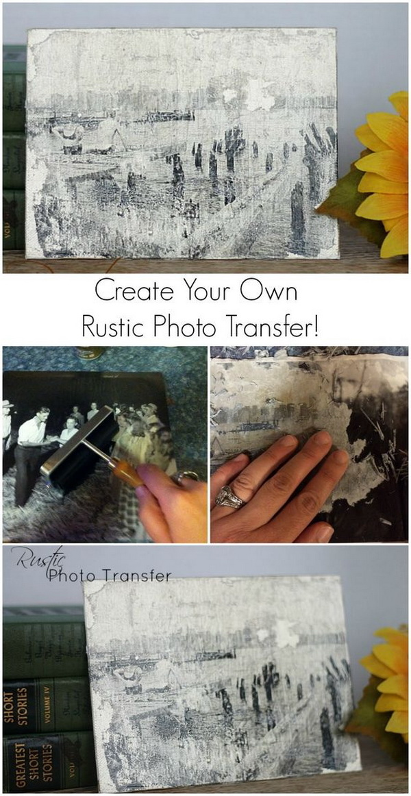 Rustic Photo Transfer.