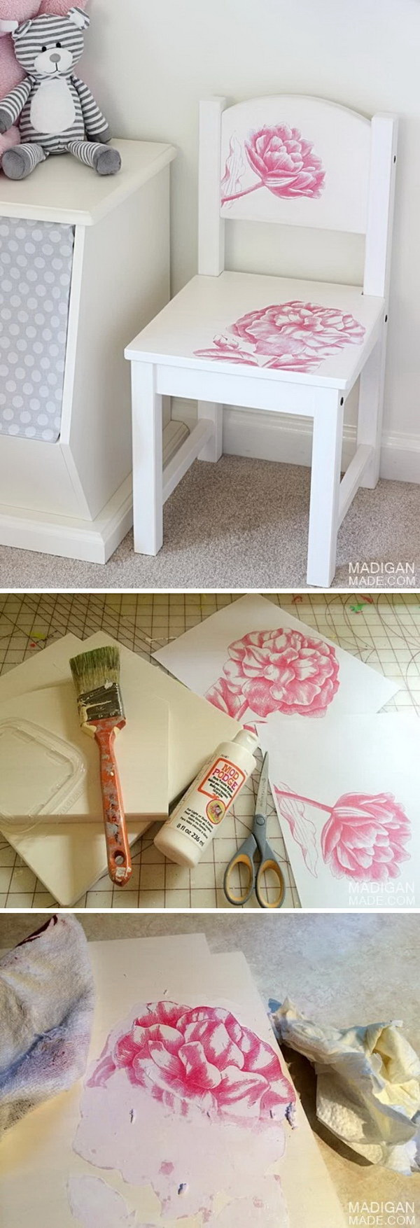 Vintage IKEA Chair Hack With Photo Transfer.