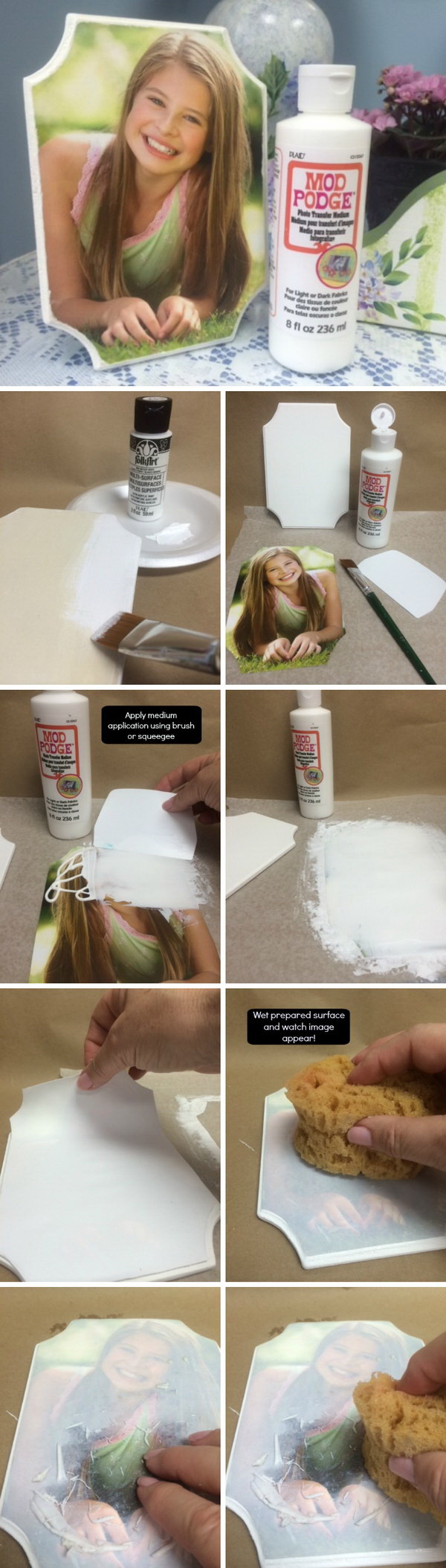 DIY Photo Project with Mod Podge Photo Transfer.