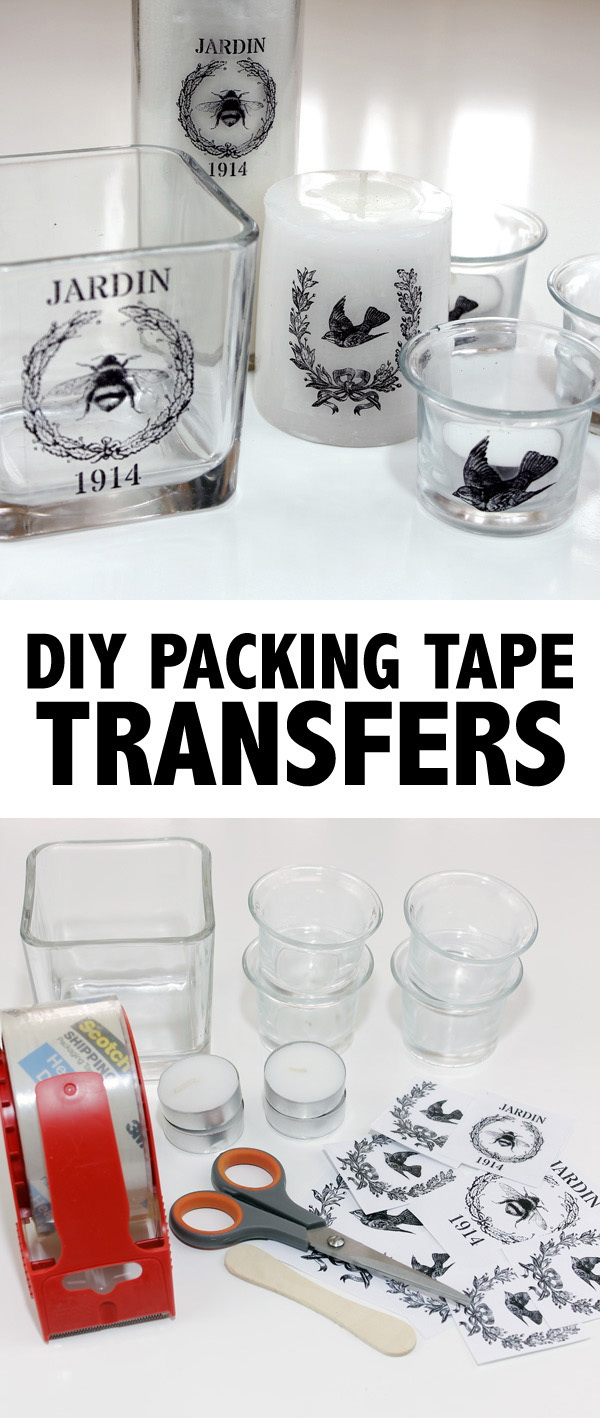 DIY Packing Tape Image Transfer on Glass.