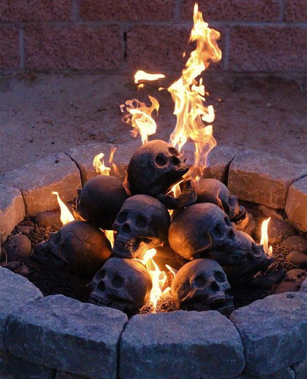 Fireproof Skulls For Your Firepit.