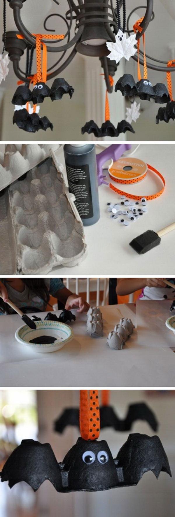 Egg Carton Bats.