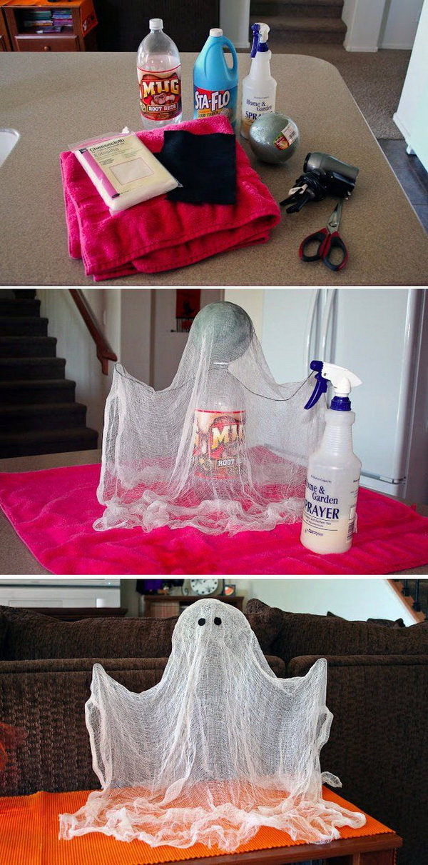 DIY Floating Ghosts.