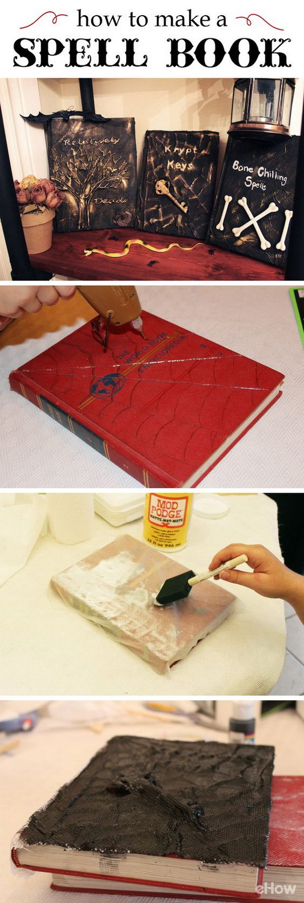 DIY Spell Book for Halloweeen.