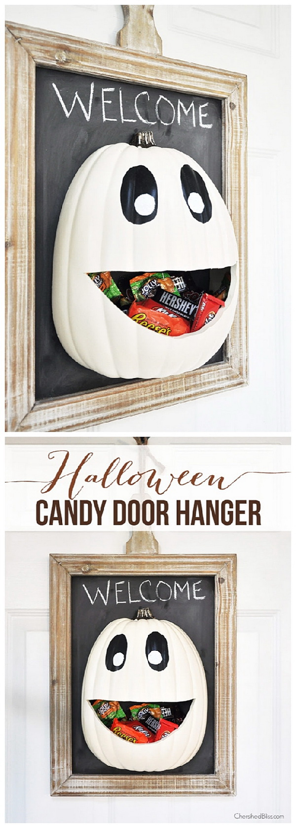 DIY Halloween Candy Door Hanger.