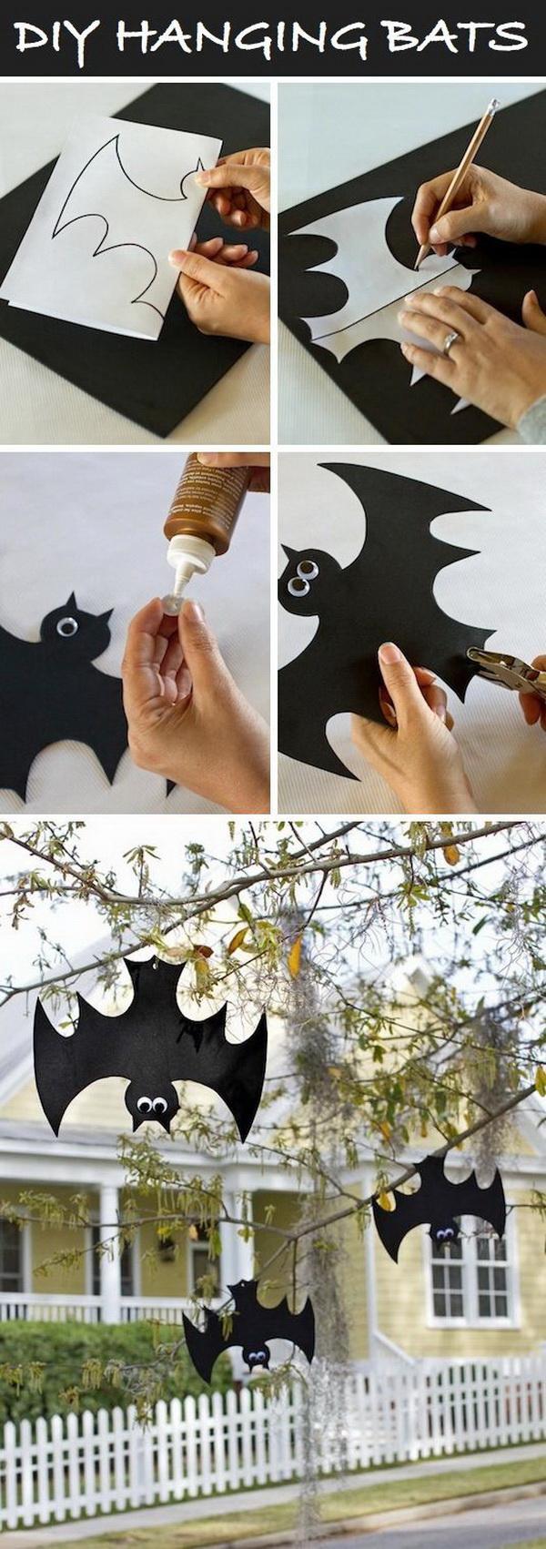DIY Hanging Bats.