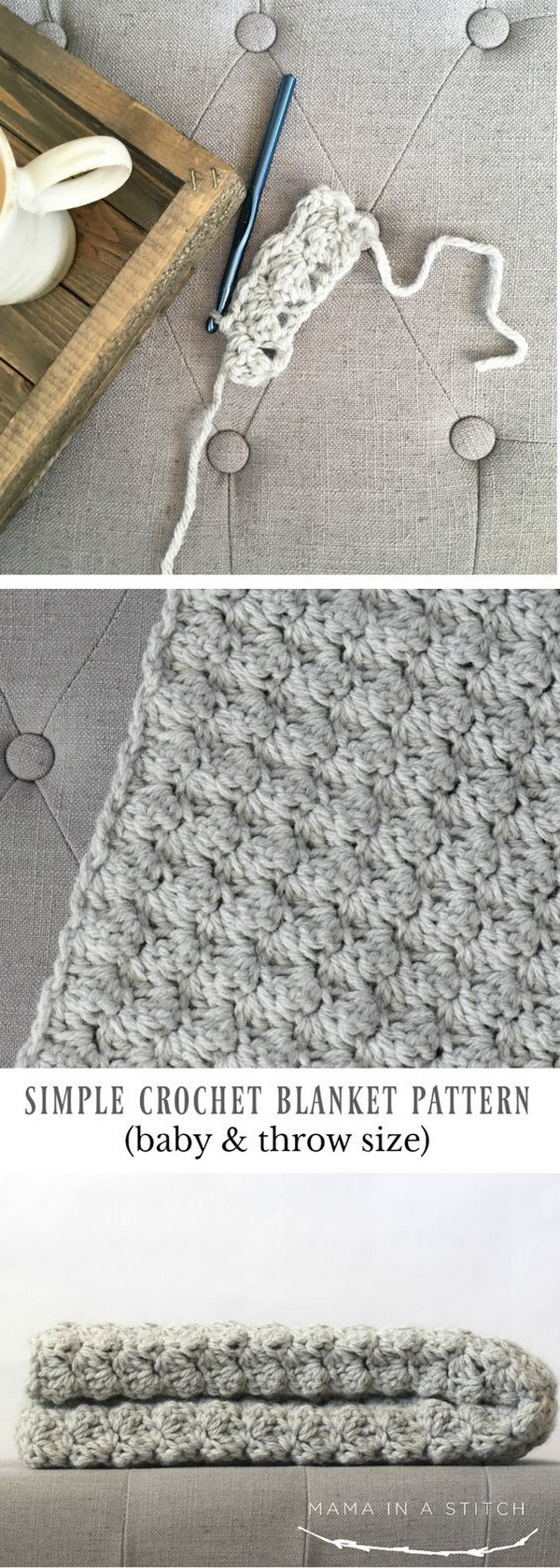 45+ Quick And Easy Crochet Blanket Patterns For Beginners