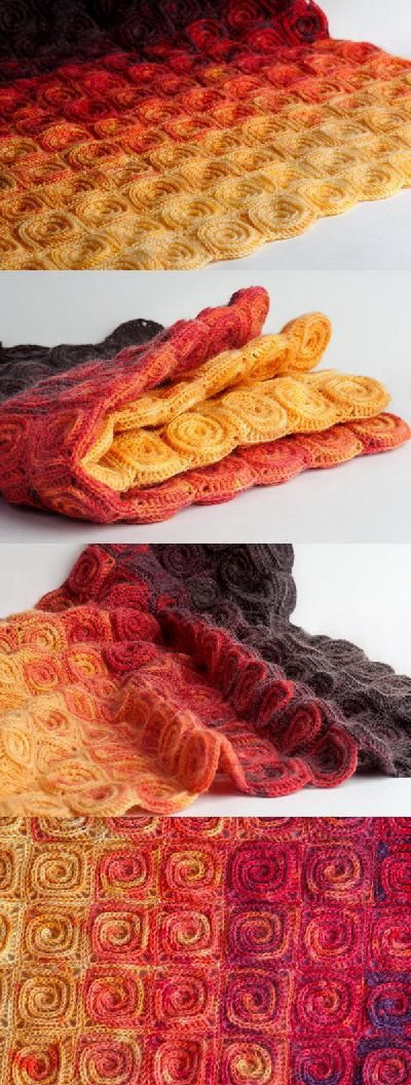 Quick And Easy Crochet Blanket Patterns For Beginners: Fire blanket.