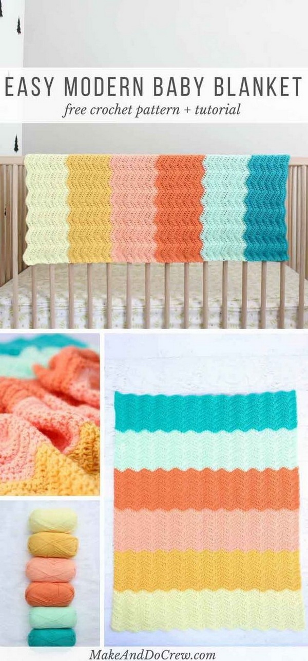 Quick And Easy Crochet Blanket Patterns For Beginners: Gender Neutral Crochet Baby Blanket.