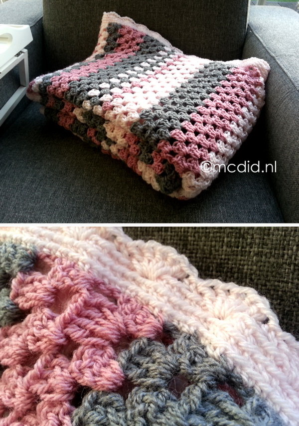 Quick And Easy Crochet Blanket Patterns For Beginners: Granny Stripes Crochet Blanket.