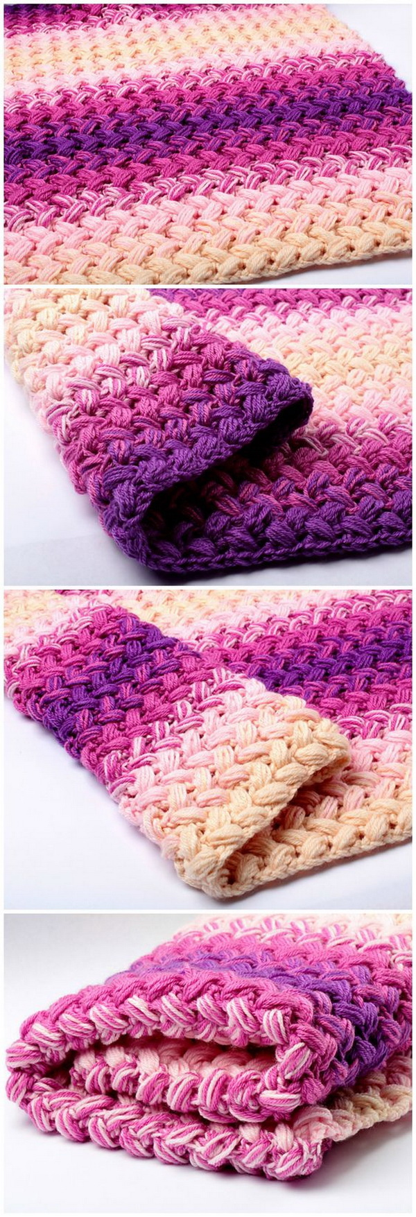 Quick And Easy Crochet Blanket Patterns For Beginners: Crochet Zig Zag Blanket.