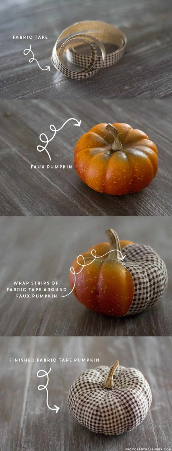 DIY Fabric Tape Pumpkins. Easy and fun fall crafts for kids!