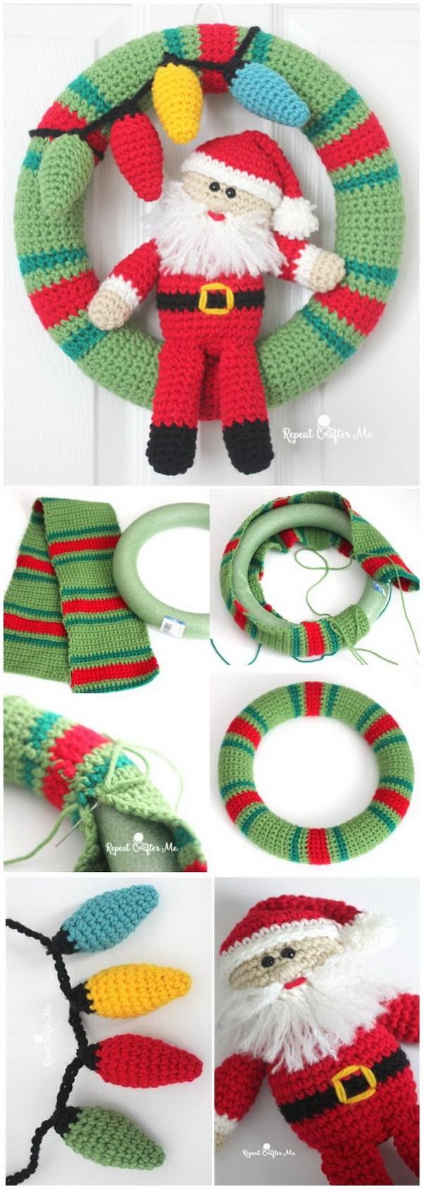 Crochet Christmas Wreath.