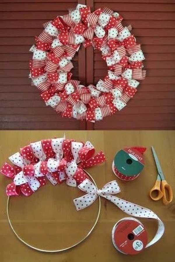 Christmas Ribbon Wreath.