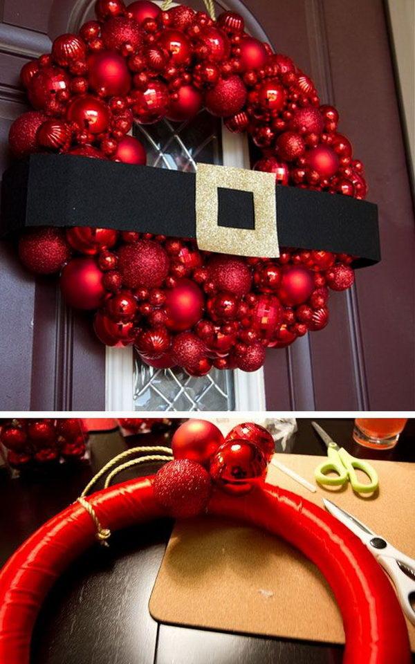 DIY Santa Wreath.