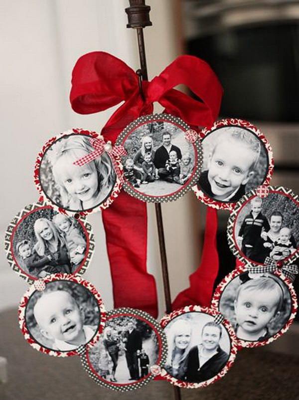 DIY Family Photo Wreath.
