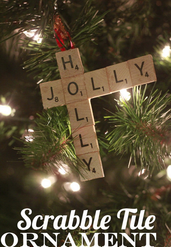 Scrabble Tile Ornament. This scrabble tile ornament can be a quick-and-easy gift you can pull off in just a few minutes.