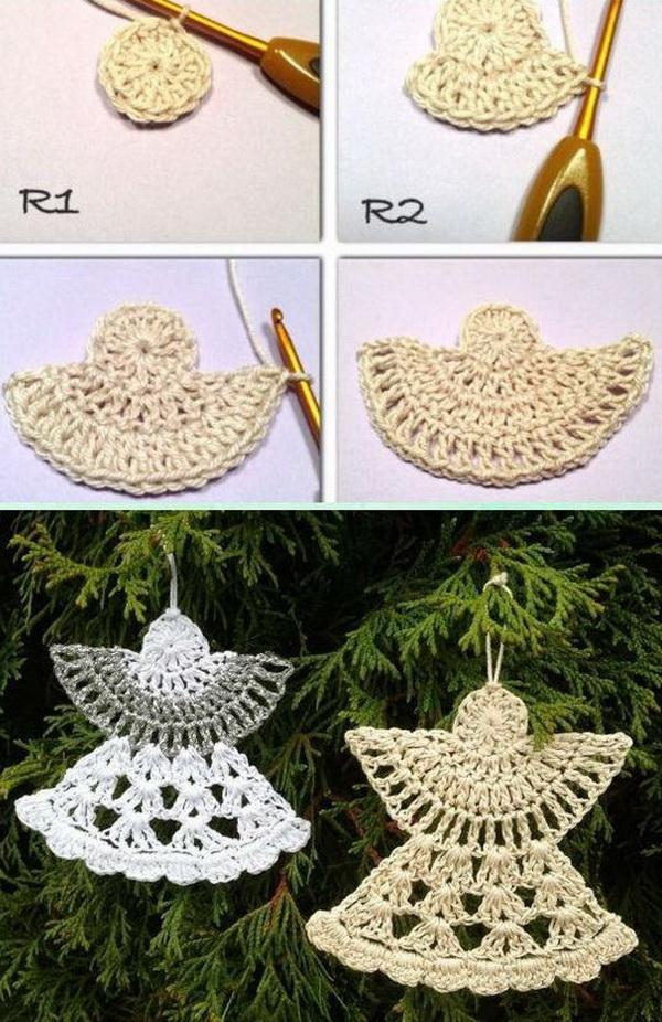 DIY Crochet Angel Ornament.