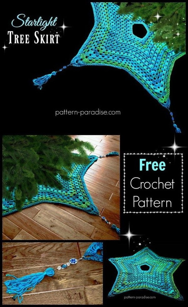 Crochet Starlight Tree Skirt. This starlight Christmas tree skirt is one of the perfect items to crochet for Christmas season. It will add more personalized handcrafted touch to your holiday decor.
