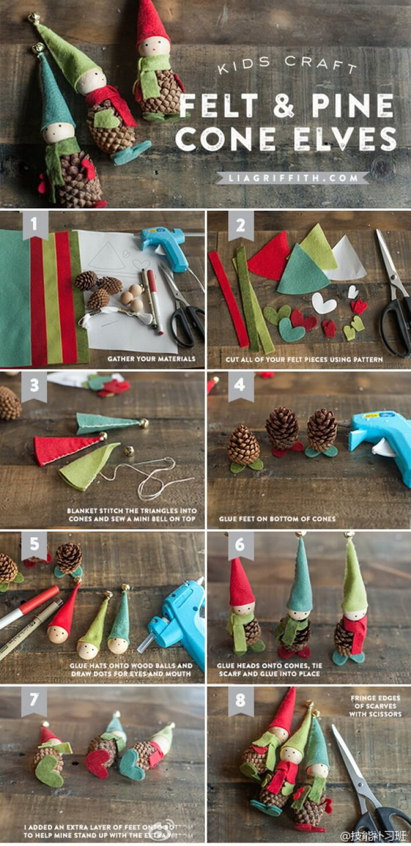30  festive and fun pine cone crafts