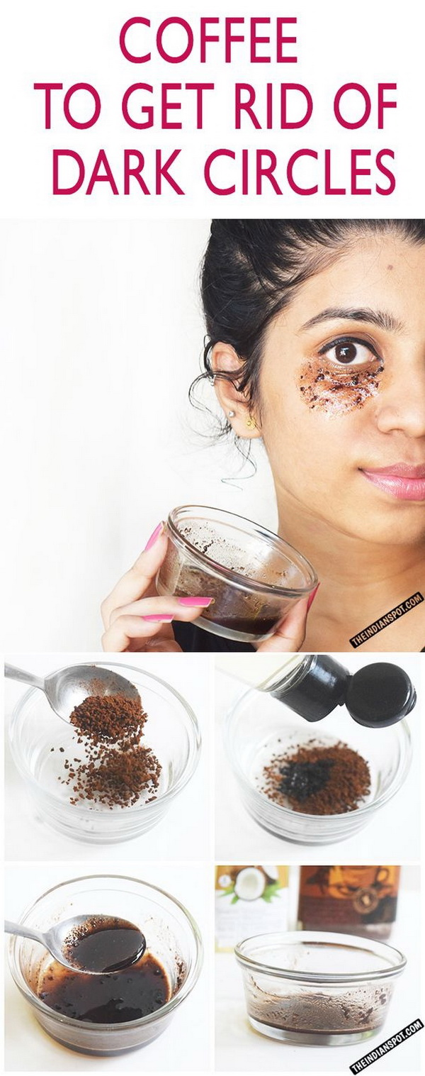 DIY Coffee Eye Mask To Get Rid Of Dark Circles and Puffy Eyes.