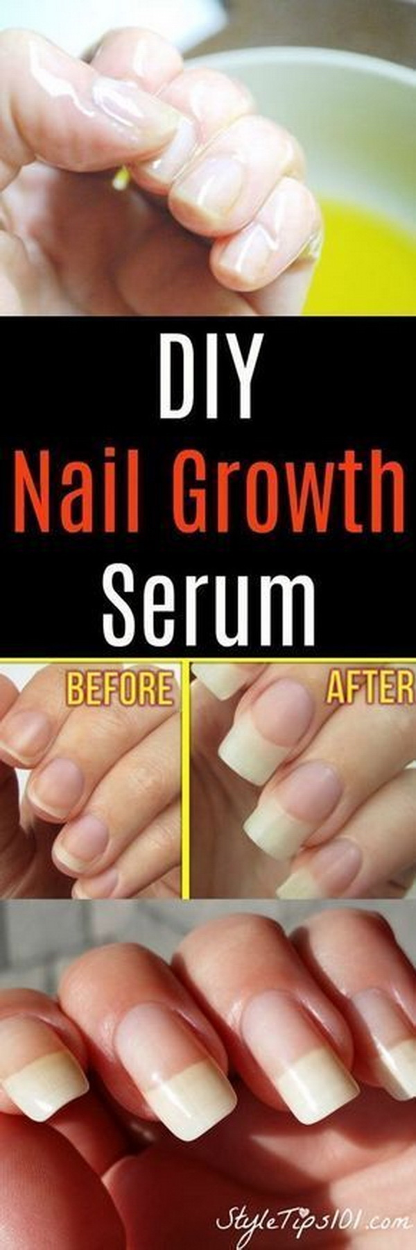 DIY Nail Growth Serum.