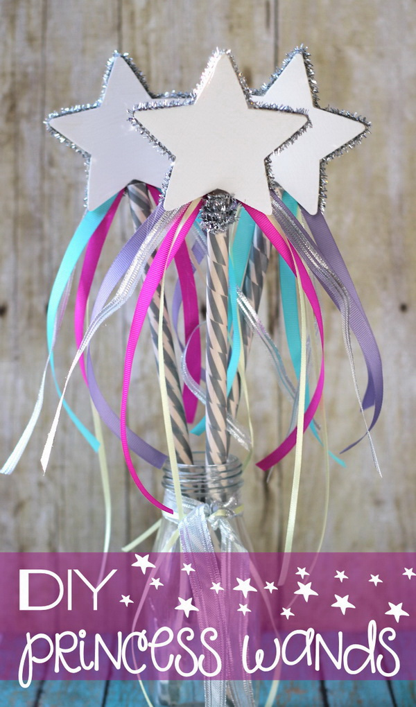 DIY Princess Wand. Every princess needs a magic wand! This is a perfect kids' craft or a handmade gifts to your sweet little beauty.