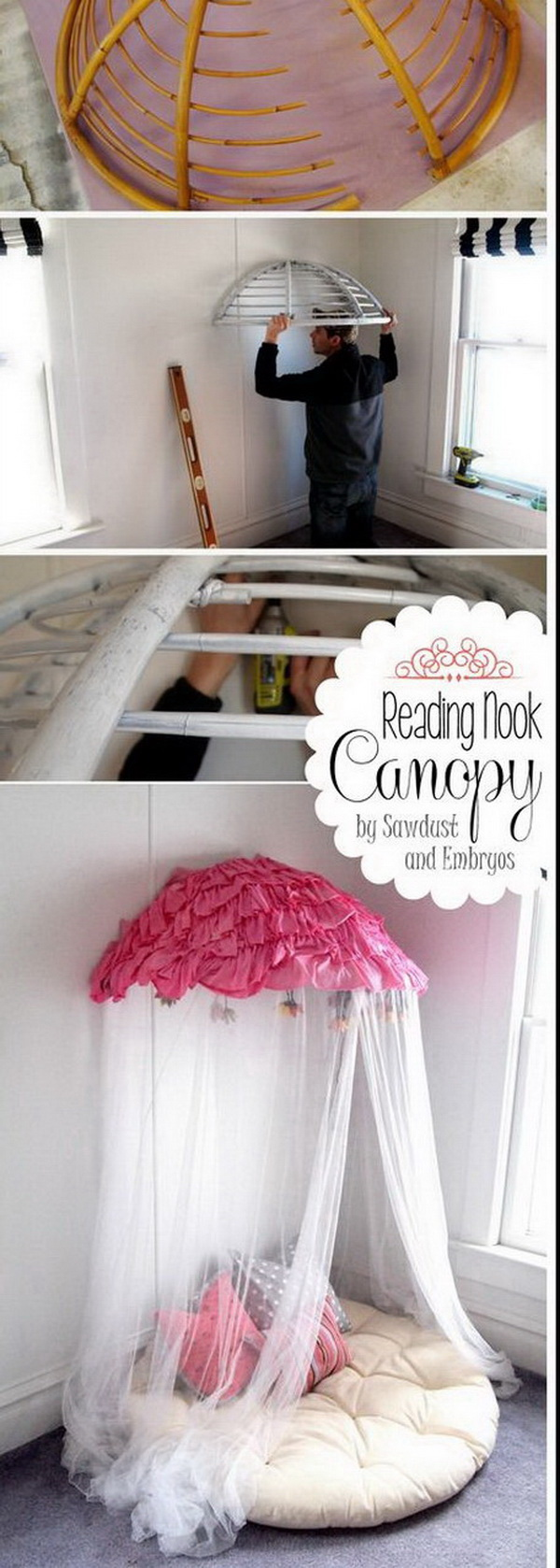 DIY Old Papasan Turned Canopy.